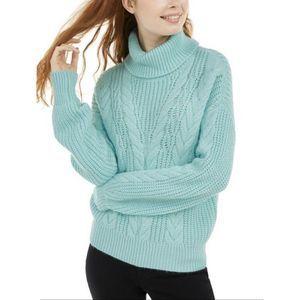 Crave Fame Juniors Cozy Turtleneck Sweater